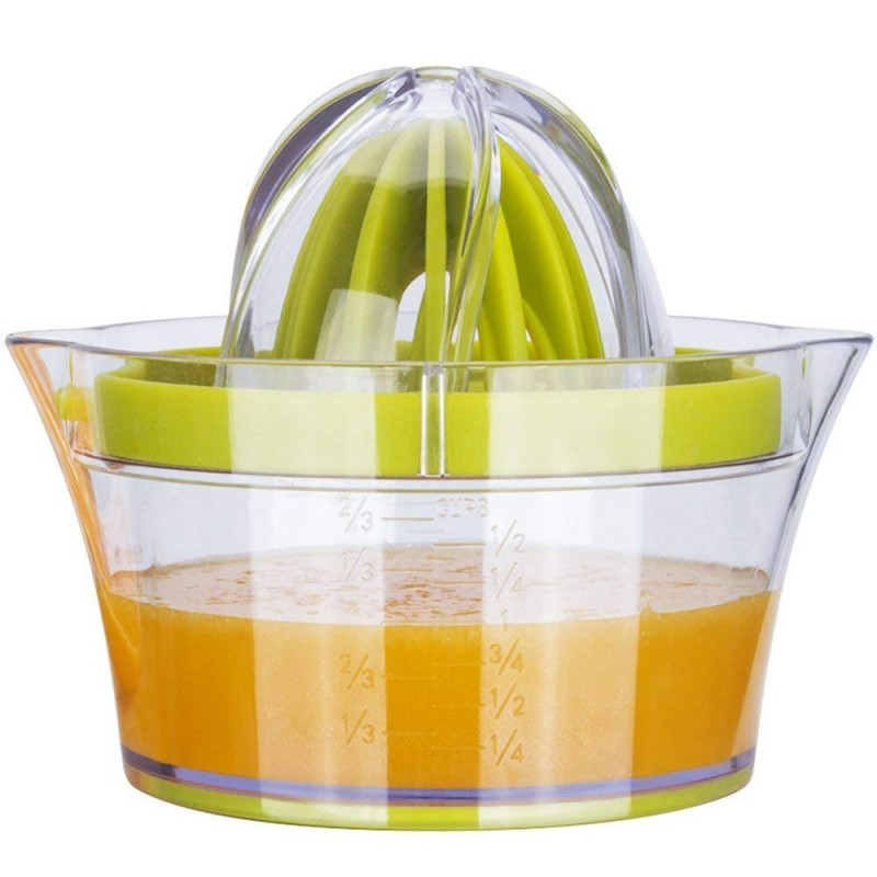 G.a HOMEFAVOR Lemon Orange Citrus Squeezer, Manual Lemon Orange Citrus Lime Juicer, Multifunctional Orange Lemon Lime Press with 2 Reamers & Measuring Container