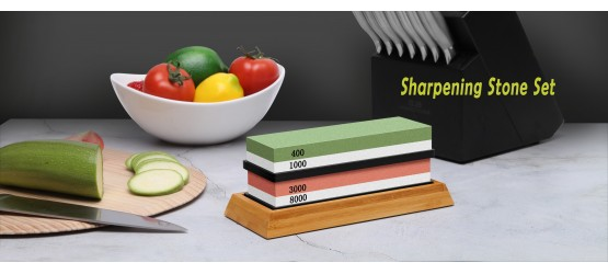 Knife Sharpening Stone Set
